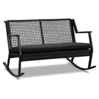 Real Flame® Calvin Two-Seat Rocker in Black