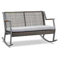Real Flame® Calvin Two-Seat Rocker in Grey