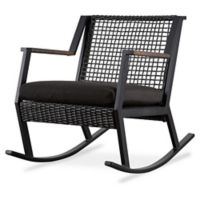 Real Flame® Calvin Two-Seat Rockers in Black (Set of 2)