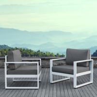 Real Flame® Baltic Outdoor Casual Chairs in White (Set of 2)