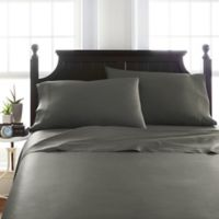 Viscose Deep-Pocket California King Sheet Set in Grey