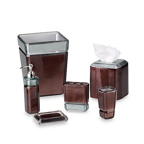 Croscill barron bath ensemble in chocolate bed bath for Chocolate bathroom accessories