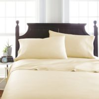 Viscose Deep-Pocket King Sheet Set in Ivory