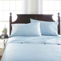 Viscose Deep-Pocket Full Sheet Set in Light Blue