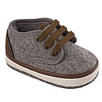 Wee Kids Size 0-2M Faux Wool Lowtop Sneakers in Grey