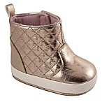 Wee Kids Size 0-2M Quilted Shaft Boot in Rose Gold