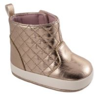 Wee Kids Size 5 Quilted Shaft Boot in Rose Gold