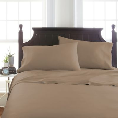 Viscose Deep Pocket Twin Sheet Set In Taupe