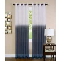 Achim Essence 63-Inch Grommet Window Curtain Panel in Blue