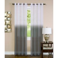 Achim Essence 63-Inch Grommet Window Curtain Panel in Charcoal