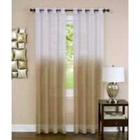 Achim Essence 63-Inch Grommet Window Curtain Panel in Tan