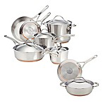 Anolon® Nouvelle Copper Stainless Steel 13-Piece Cookware Set