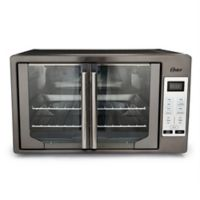 Oster® Stainless Steel Digital French Door Oven in Black Stainless