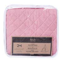 KidiComfort™ 2-In-1 Quilted Teepee Floor Mat in Soft Pink