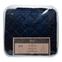 KidiComfort™ 2-In-1 Quilted Teepee Floor Mat in Navy