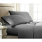 Home Collection Checkered King Sheet Set in Grey