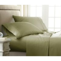 Home Collection Checkered Queen Sheet Set in Sage
