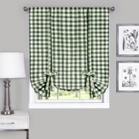 Achim Buffalo Check 63-Inch Rod Pocket Window Curtain Tie Up Shade in Sage
