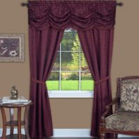 Achim Panache 84-Inch Rod Pocket 5-Piece Window Curtain Set in Burgundy