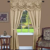 Achim Panache 84-Inch Rod Pocket 5-Piece Window Curtain Set in Tan