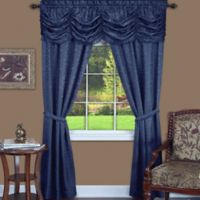 Achim Panache 63-Inch Rod Pocket 5-Piece Window Curtain Set in Navy