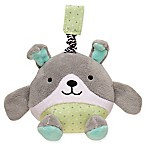 Magic Years® Puppy Chime Rattle with Travel Strap in Grey