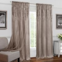 Achim Willow 63-Inch Rod Rocket Window Curtain Panel in Toffee