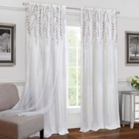 Achim Willow 84-Inch Rod Rocket Window Curtain Panel in White