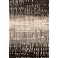 Orian Rugs Wild Weave City Drizzle 9' x 13' Area Rug in Black