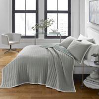 City Scene Zane Full/Queen Quilt Set in Pastel Grey