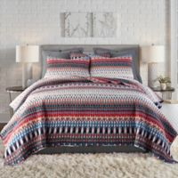 Levtex Home Pyrrha Reversible Twin Quilt Set in Red/Blue