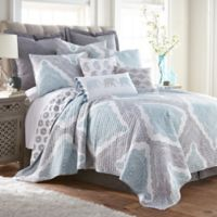 Levtex Home Grace Reversible King Quilt Set in Grey/White