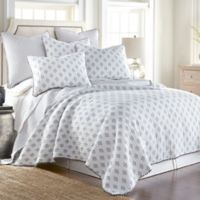 Levtex Home Daphne Ditsy King Quilt Set in White/Blue
