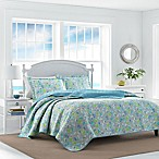 Laura Ashley At The Seashore King Reversible Quilt Set in Aqua