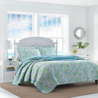 Laura Ashley At The Seashore Full/Queen Reversible Quilt Set in Aqua