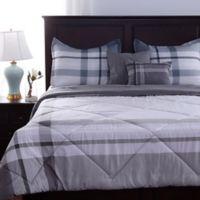 Berkshire Blanket® Cabin Plaid 5-Piece King Comforter Set in Grey