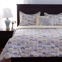 Berkshire Blanket Chic Zig Zag 5-Piece Reversible King Comforter Set in Yellow