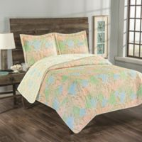 Coastal Biscayne Bay Reversible Twin Quilt Set in Sand