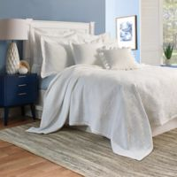 Shells Matelasse Full/Queen Coverlet in White