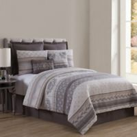 VCNY Home Mateo 8-Piece Queen Comforter Set in Gold