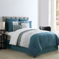 VCNY Home Sola Patchwork 8-Piece King Comforter Set in Blue