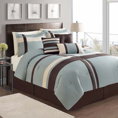 Buy Blue and Brown Comforters from Bed Bath Beyond