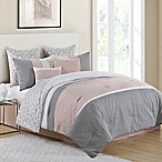 VCNY Home Cordelia 8-Piece Queen Comforter Set in Blush Pink