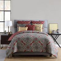 VCNY Home Ishmire 8-Piece Full/Queen Comforter Set in Red