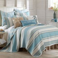 Levtex Home Camarillo Reversible Twin Quilt in Blue/Taupe