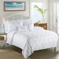 Lamont Home™ Caribbean Flamingo Twin Coverlet in White