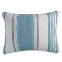 Levtex Home Camarillo Standard Pillow Sham in Blue/Taupe