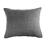 Real Simple® Dune Chambray Standard Pillow Sham in Charcoal