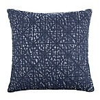 Denim Wash Quilted Square Throw Pillow in Blue
