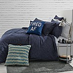 Jersey Space-Dyed Full/Queen Comforter Set in Navy